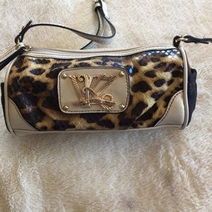 Kathy Van Zeeland animal print purse